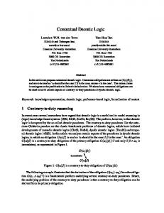 Contextual Deontic Logic - CiteSeerX