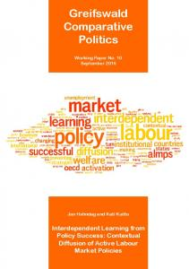 Contextual Diffusion of Active Labour Market Policies. - Comparative ...