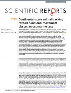 Continental-scale animal tracking reveals functional ...