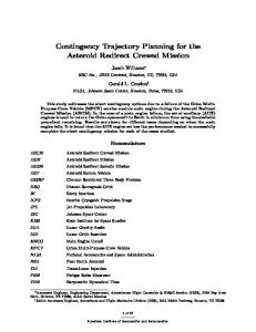 Contingency Trajectory Planning for the Asteroid ...