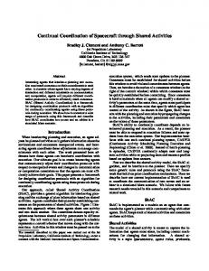 Continual Coordination of Spacecraft through ... - Semantic Scholar