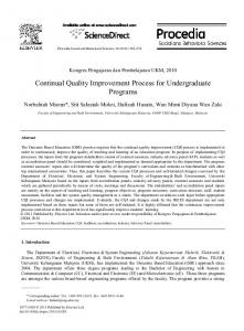 Continual Quality Improvement Process for ... - CyberLeninka
