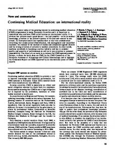 Continuing Medical Education: an international ... - Wiley Online Library