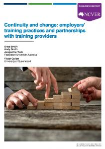 Continuity and change: employers' training practices and ... - Eric