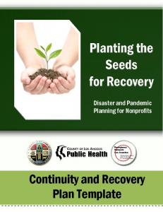 Continuity and Recovery Plan Template