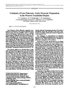 Continuity of Late Paleozoic–Early Mesozoic ... - Springer Link