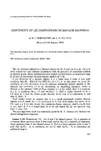 Continuity of Lie derivations on Banach algebras - Cambridge ...