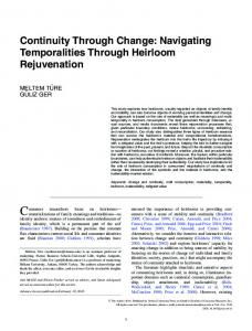 Continuity Through Change: Navigating Temporalities Through ...