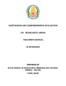 continuous and comprehensive evaluation co - scholastic areas ...