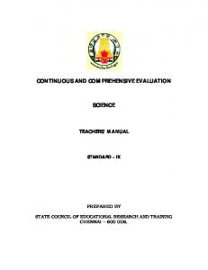continuous and comprehensive evaluation science - Welcome to ...