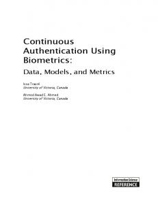 Continuous Authentication Using Biometrics