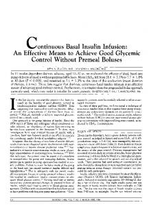 continuous Basal Insulin Infusion: An Effective Means ... - Diabetes Care