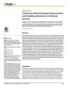 Continuous Dissolved Oxygen Measurements and