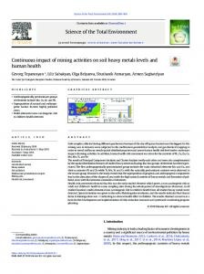 Continuous impact of mining activities on soil heavy ...