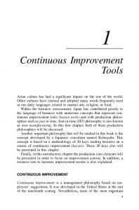 Continuous Improvement Tools - Wiley