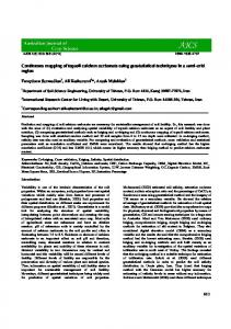 Continuous mapping of topsoil calcium carbonate using geostatistical ...