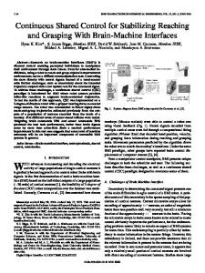 Continuous Shared Control for Stabilizing ... - Semantic Scholar
