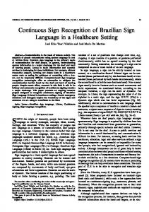 Continuous Sign Recognition of Brazilian Sign Language in a ...