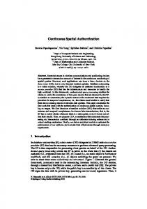 Continuous Spatial Authentication - Semantic Scholar