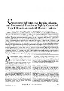 continuous Subcutaneous Insulin Infusion and Postprandial Exercise ...