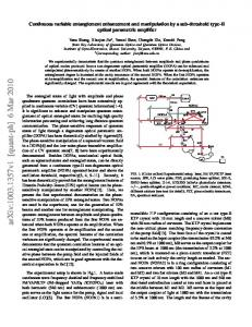 Continuous variable entanglement enhancement and manipulation by ...