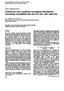 Continuous wave excitation two-photon fluorescence microscopy ...