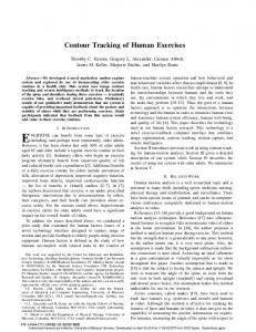 Contour Tracking of Human Exercises - Semantic Scholar