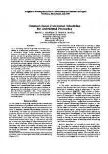 Contract-Based Distributed Scheduling for ... - Semantic Scholar