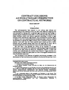 Contract Collisions: An Evolutionary Perspective on Contractual ...