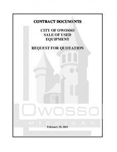 contract documents city of owosso sale of used equipment request ...