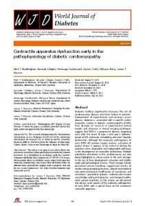 Contractile apparatus dysfunction early in the