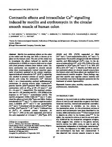 Contractile effects and intracellular Ca2+ ... - Wiley Online Library