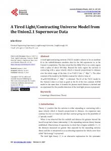 Contracting Universe Model from the Union2.1