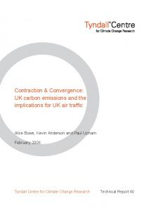 Contraction & Convergence: UK carbon emissions and the ...