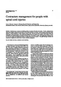 Contracture management for people with spinal cord injuries - J-Workout