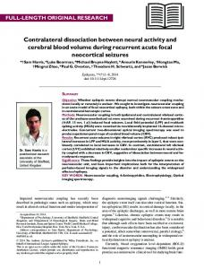 Contralateral dissociation between neural activity ... - Semantic Scholar