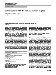 Contrast agents for MRI - Springer Link