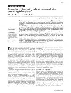 Contrast and glare testing in keratoconus and after ... - Semantic Scholar