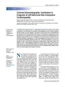 Contrast Echocardiography - Hellenic Journal of Cardiology
