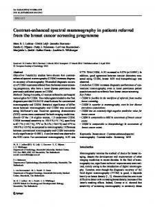 Contrast-enhanced spectral mammography in patients ... - Springer Link