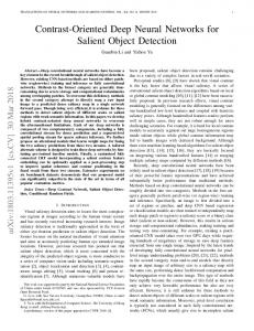 Contrast-Oriented Deep Neural Networks for Salient Object ... - arXiv