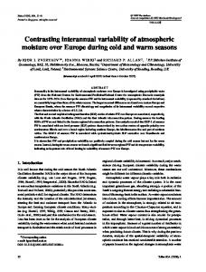 Contrasting interannual variability of atmospheric moisture over