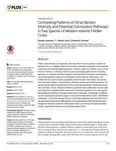 Contrasting Patterns of Clinal Genetic Diversity
