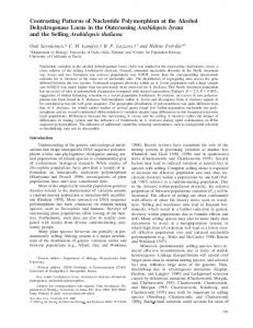 Contrasting Patterns of Nucleotide Polymorphism ... - Cornell University