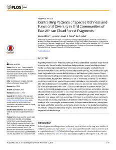 Contrasting Patterns of Species Richness and