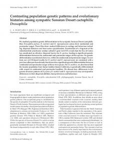 Contrasting population genetic patterns and ... - Semantic Scholar