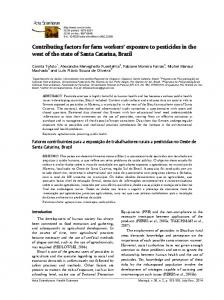 Contributing factors for farm workers' exposure to pesticides in ... - UEM