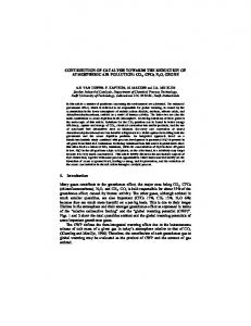 CONTRIBUTION OF CATALYSIS TOWARDS THE