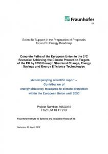 Contribution of energy efficiency measures to climate ... - Fraunhofer ISI