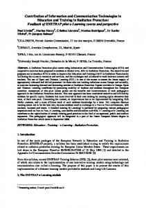 Contribution of Information and Communication Technologies in ...